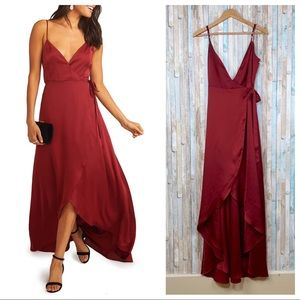 New Show Me Your Mumu S Mariah Wrap Dress Gown Red
